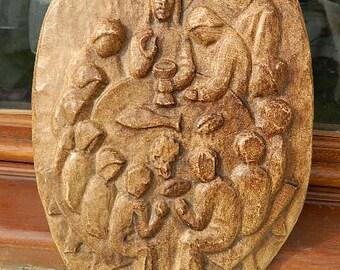 religious plate sculpture