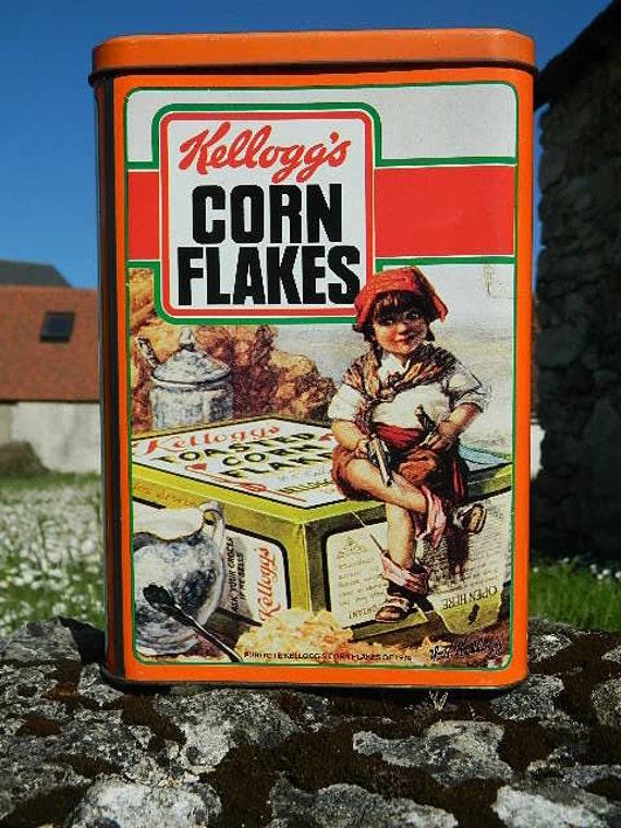 1987 bo te en fer kelloggs corn flakes. Black Bedroom Furniture Sets. Home Design Ideas