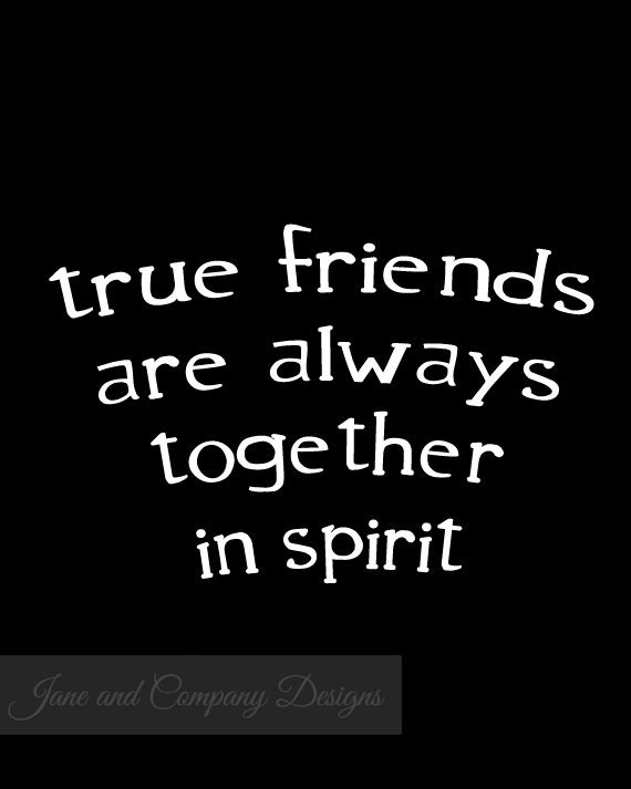 TRUE FRIENDS, Best Friend Gift, Long Distance Friendship Gifts, Anne ...