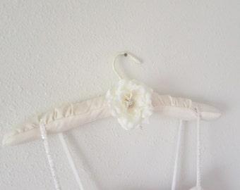 SALE  Bridal hanger satin elegance/ Ivory bridal hanger/