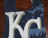 Upcycled Bib from Royals T-Shirt - KC
