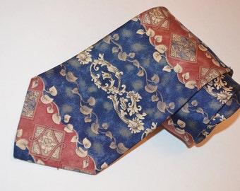 Etienne Aigner Men's Vintage Blue and Mauve Necktie