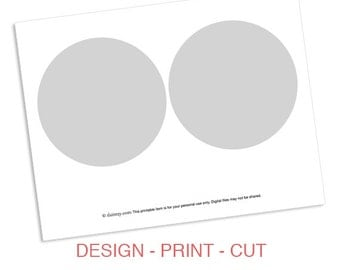 Instant Download: Party Printable Template - DIY 5x5 Circle Banner Flag Design Template by daintzy