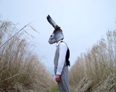 MADE TO ORDER: Hand felted Hare mask