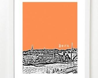 Bern, Switzerland Poster - Bern City Skyline Art Print - Europe Series -