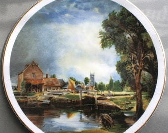 Dedham Mill by John Constable Collectors Plate Fenton China Company England