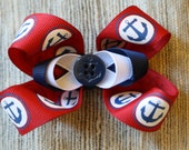 Anchors Away Bow (Red, White and Blue)