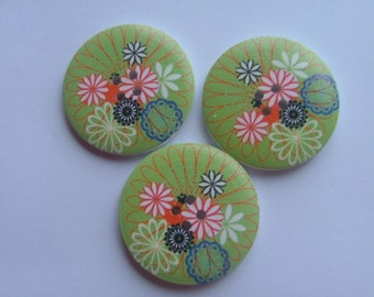 4cm Painted Wooden Buttons