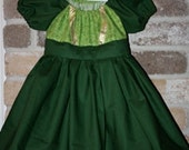 Celtic Dress - Princess Fiona - Princess Merida from Brave Peasant Dress - Size 3 mo - 18 mo