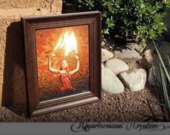 Fire Dancer - 16 x 20 Framed Photo Artwork