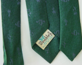SALE Utterly Mad Men Atomic 1960s Men's Vintage Wembley Silk Tie FREE SHIPPING