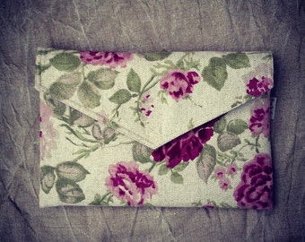 "11 inch MacBook Air case with pocket, sleeve, 11 inch laptop case, ultrabook case, notebook, floral pattern, eco friendly - ""ENVELOPE"""