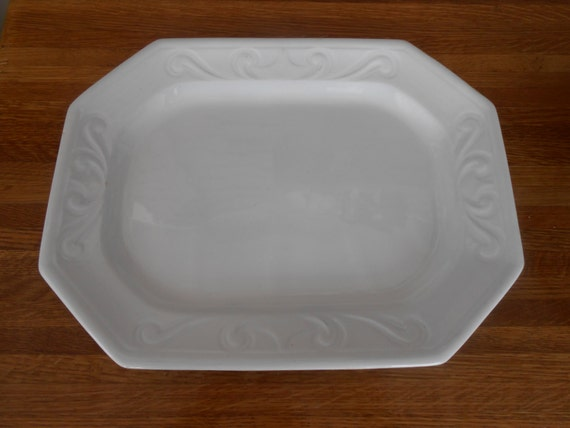 Antique Large White Ironstone Meat Platter Mayer Amp By Swansdowne