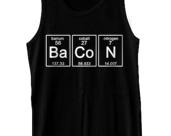 Periodic BaCoN Tank Top Science Chemistry Funny Geekery Geek Nerd Humor Tank Tee Shirt Tshirt XS-2XL Great Gift Idea