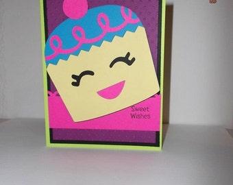 Sweet Wishes Cupcake Card