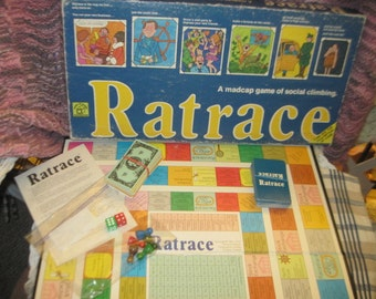 RAT RACE A Madcap Game of Social Climbing 1974, Financial Game, Family game Night, Learning Game, Ratrace, Vintage toys, Toys,  :)s*