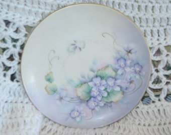 Really Pretty Plate with Flowers on it.. with wall hanger Blade/ By Bude /S