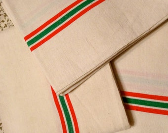 French vintage dish towel, torchon. Paris