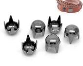 100 Gunmetal Rivet Stud Spikes - 4mm - 4 Legs - Metal - Rivets Studs Spike (B18974)