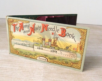Vintage The Army and Navy Needle Book - Iowa - Germany