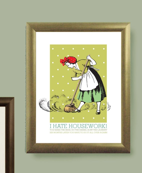 Retro Poster Kitchen Wall Art Vintage Home By Visualphilosophy