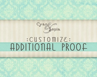 Customization - Additional Proof