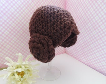 Star Wars Princess Leia baby hat