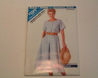 Vintage Butterick See Sew Pattern 4168 Miss Dress