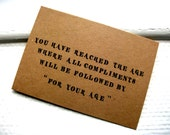 """Funny Birthday Card - Kraft Brown - """"FOR YOUR AGE"""" - Card For Him Or Her"""