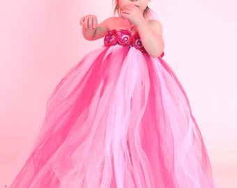 hot-pink, TuTu dress, baby TuTu ,flower girl , perfect for pictures. available 0-young girl