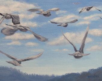 Flight - Original Bird painting