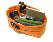 Container Cosmetic Bag Makeup Bag Organizer Storage Bag Organizing Hand Bag-Orange