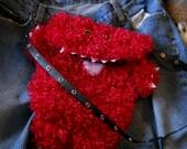 ON SALE Price reduced 25%  Red Monster Purse Shoulder Bag