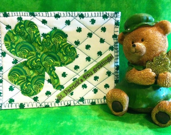 Quilted St. Patrick's Day Postcard