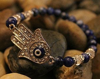 Evil Eye - Navy Blue Evil Eye/Hamsa Bracelet