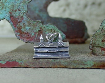Vintage Horse Racing Churchill Downs Twin Spires Grandstand Sterling Silver Charm or Pendant Rare