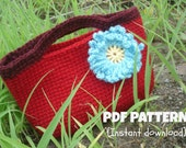 Crochet purse pattern, Scarlett purse, Pattern No. 21