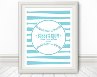 Baseball Kids Print, Baseball Kids Wall Art, Baseball Wall Art, Kids Wall Art, Baseball Print, Custom Baseball Art, Gift