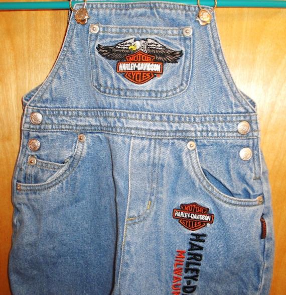 Biker Baby Harley Davidson Overalls Jeans By Muzettaswaltz