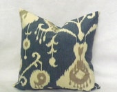 Blue Ikat Pillow Cover,18x18 Decorative Throw Pillow Cover, Pillow Case, Accent Pillow,Toss Pillow Cover, Sofa Pillow