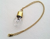 Steampunk Lightbulb Charm Necklace