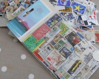 Selection Of Vintage Paper Ephemera - 50 Mixed Vintage GB Commemorative Stamps
