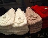 Hand Knit Headband, Head wrap, Earwarmers, Girl Headband/ Baby Headband, Crochet Head wrap, Crochet headband
