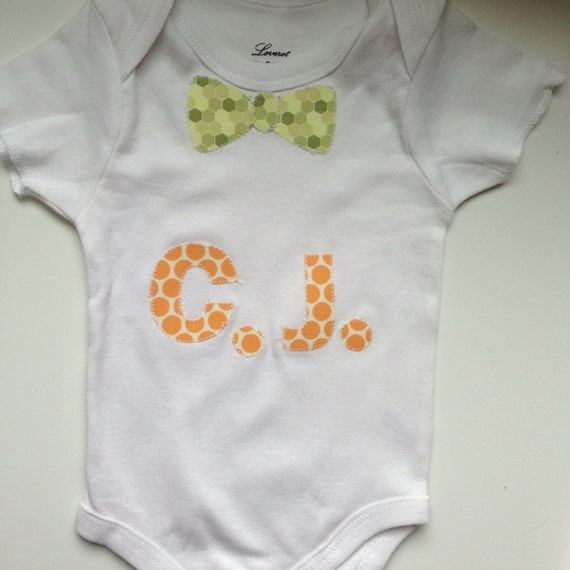 Personalized Bow Tie Onesie