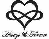 Always & Forever w/heart wall decal