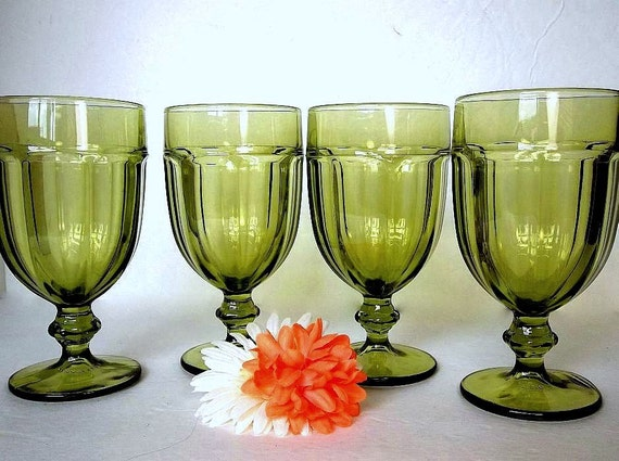Vintage Set Of Four Libbey Gibraltar Dura Tuff Water Or Iced