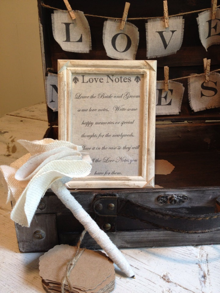 Wedding Gift Card Holder Set Vintage Styled by BurlapandLinenCo