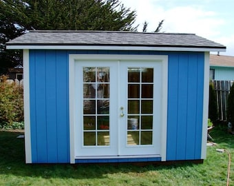 Sweet 10x12 Portable Studio with French Doors and a Huge Window