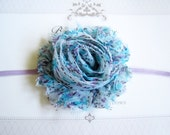 Aqua Flower Headband, Baby Headbands, Newborn Headbands, Infant Headbands, Baby Girl Bow, Infant Hair Bow,