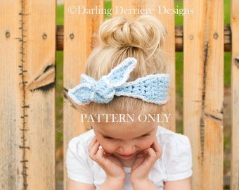 PDF Instant Download Knot Headband Pattern